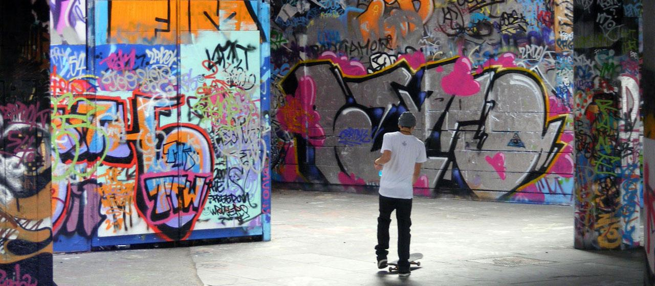 Southbank graffitti