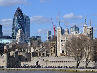 London Gherkin and Tower of London