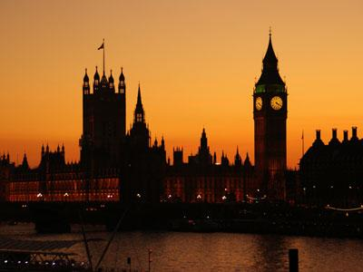 London House of Parliament at sunset