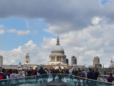 London Millenium Bridge and St Pauls