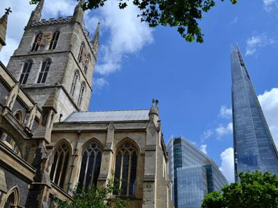 London Southbank Cathedral and the Shard