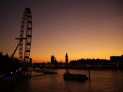London Southbank sunset