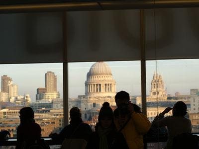 London View from Tate Modern  cafe