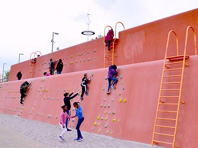 London Stratford Climbing wall Olympic Park