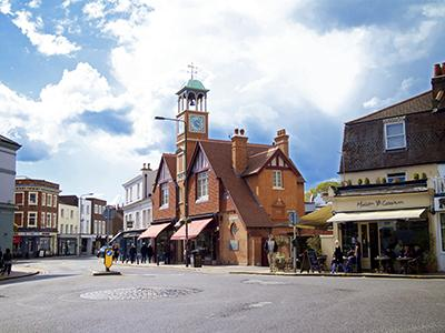 London Wimbledon village clock tower