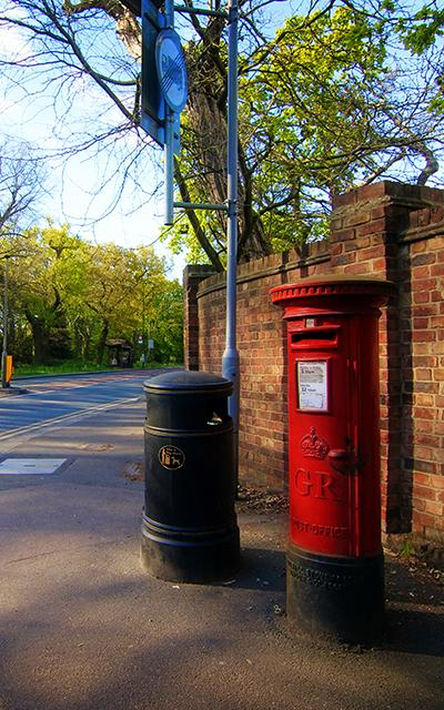 London Wimbledon Hill post box