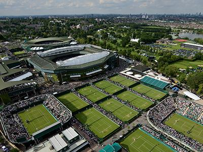 London Wimbledon tennis courts walk sky view
